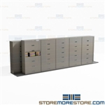 Legal Cabinets Sliding on Tracks Filing Storage System Space Planning Stak-n-Lok