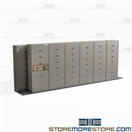 Rolling Sliding Letter Cabinets Mobile Stacking Storage Systems Buy Online Datum