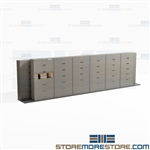 Moving File Cabinets on Tracks Letter-Size Folder Storage 7 High Shelving Datum