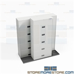 Sliding Flipper Door Binder Cabinets BiSlider Rolling Track Storage Notebooks