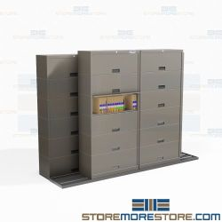 Sliding Flipper Door File Cabinets How to Reduce Storage Footprint Eco-Friendly