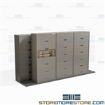 Legal File Cabinets on Tracks Moving Sideways Space Savers Shelving Eco-Friendly