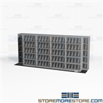 Bi-Slider High Density X-Ray Racks Storage Shelves Use Less Floorspace Datum
