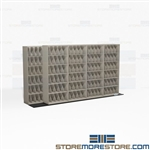 Bi-File Sliding Wheeled Racks X-Ray Rolling Shelf Compact Storage Cabinets Datum