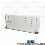 Track Storage Cabinets Locking Flipper Doors Storing Binders Free Shipping