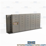 Sliding Track Cabinets Legal Size Mobile Storage Systems Buy Online Datum