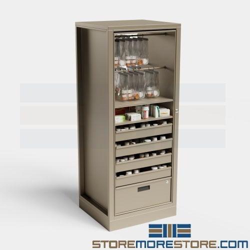 """pharmacy storage cabinets (2' 6-3/4""""w x 2' 1""""d x 6' 4-1/2""""h),  #sms-15-phrot-6a"""