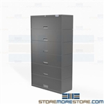 Six-Tier Cabinet with Flip Up Doors Stores Legal-Size Folders Pockets Stak-n-Lok