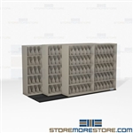 Space Saving Shelves X-Ray 3-Deep File Cabinets High Density Storage Racks Datum
