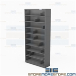 "9-Shelf CD Storage Racks DVD VHS Media Organizer 63.75""H Shelving Units Datum"