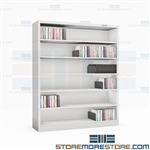 "6-Tier Narrow Shelves CD DVD Media Stack Storage 36"" W x 43.5"" H Datum Shelving"