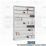"CD DVD Shelving Units Narrow Storage Media 9-Tier Shelf Racks 42""W x 63.75""H"