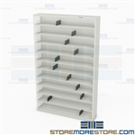 Narrow Stack Shelves CD DVD Media Patient File Storage Shelving Units Datum
