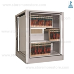 secure rotary cabinet, rotary secure file cabinet, rotating secure shelving, Datum Ez2 Rotary Action File