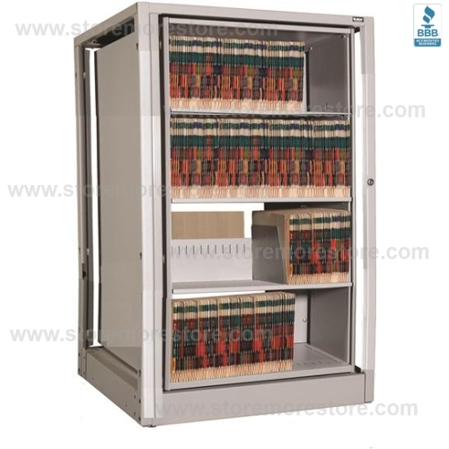 Rotating Legal Size File Cabinet With 4 Shelves Per Side 8 Total Adder Unit 38 3 W X 31 D 51 H Sms 15 Xlg A4