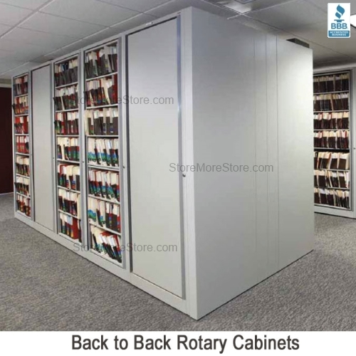 Legal Size Rotating Cabinets Add-on Unit 8 Shelves for Compacting ...
