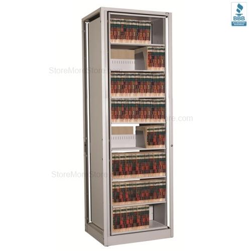Legal Depth Revolving Shelves Add-on Rotating File Unit 16 Shelves ...