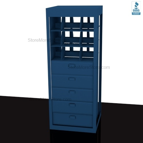 Alternative Views  sc 1 st  StoreMoreStore & Legal Depth Rotating Storage Cabinets 10 Drawers 4 Shelves with Lock ...
