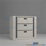 office secure rotating file shelving systems, medical rotary file, medical rotary shelving, Aurora Times-4