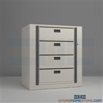 secure rotary file shelf systems, rotating secure files, rotating secure cabinet, Mayline ARC-in-the-Box