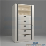 secure rotary file shelves, office secure rotary cabinets, office secure rotating files, Aurora Times-5