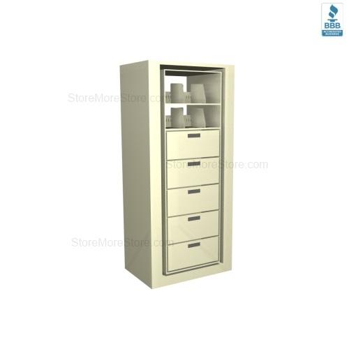 Legal Size Pivot Cabinets Unit 10 File Drawers 3 Storage Shelves ...