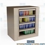 Spinning Top Tab File Cabinet Legal-Size Roll-out Shelves Four High Datum EZ2