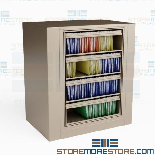 Spinning Top Tab File Cabinet Legal Size Roll Out Shelves Four
