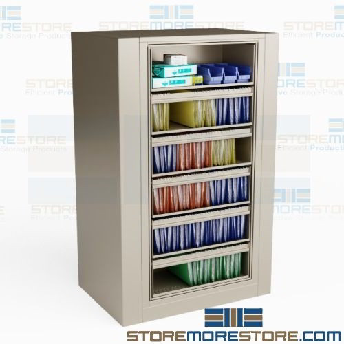 Rotating File Cabinet 5 Roll Out Shelves 1 Fixed Shelf Rotary Ez2 Legal
