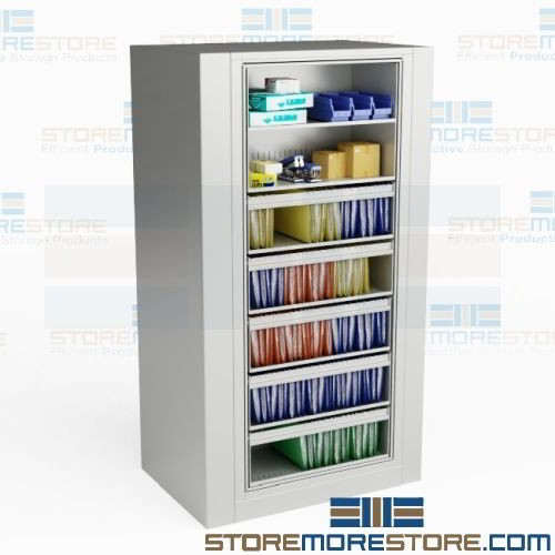 Rotary File Cabinet Legal Size 5 Hanging Folder Roll Out Shelves 2