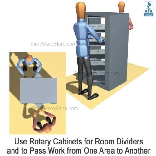 Rotary File Shelf Cabinet Five Shelf   Rotating Filing Storage ...