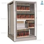 medical rotating file shelves, secure rotary file shelving systems, rotating file shelving, Spacesaver Rotary File