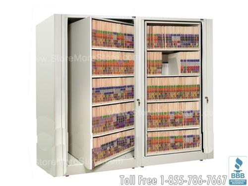 Rotary File Shelf Cabinet | Rotating Filing Shelves SMS-15-XLT-A5 ...