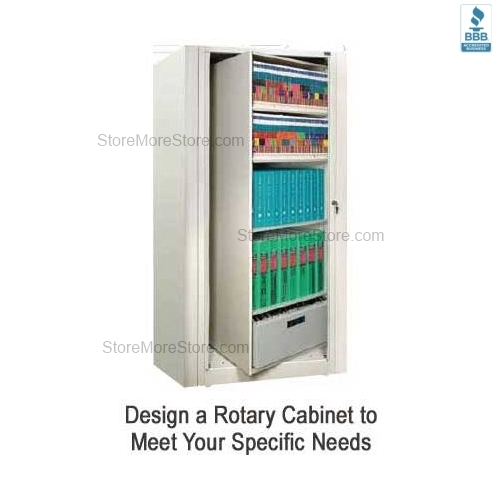 Rotary File Shelf Cabinet Rotating
