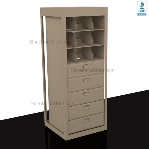 Letter Depth Revolving Filing Drawers Storage Shelves for Secure ...