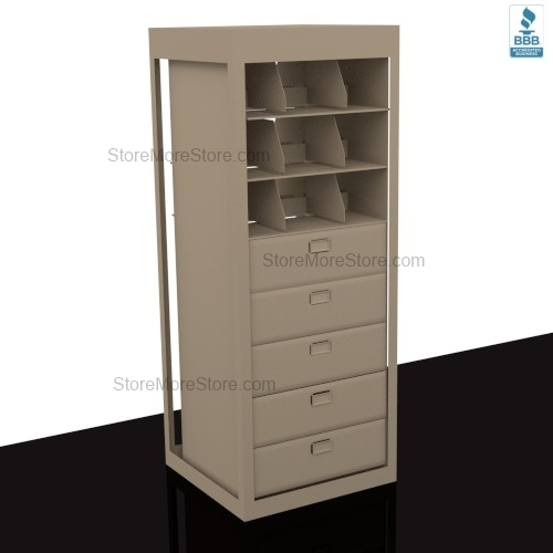 Alternative Views  sc 1 st  StoreMoreStore & Letter Depth Revolving Filing Drawers Storage Shelves for Secure ...