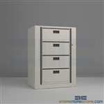 medical rotary cabinets, office secure rotating file shelving, secure rotary cabinets, Datum Ez2 Rotary Action File
