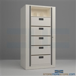 rotating filing drawers, office filing drawers, medical rotary file drawers, Mayline ARC-in-the-Box