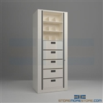 secure rotary shelves, office rotating cabinets, rotary file, Datum Ez2 Rotary Action File