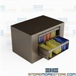 Pivoting Cabinet for Hanging File Folders 2 Roll-out Shelves Letter Filing EZ2