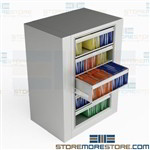 Rotating File Cabinet Five Roll-out Shelves 1 Fixed Shelf Letter-Size Datum EZ2