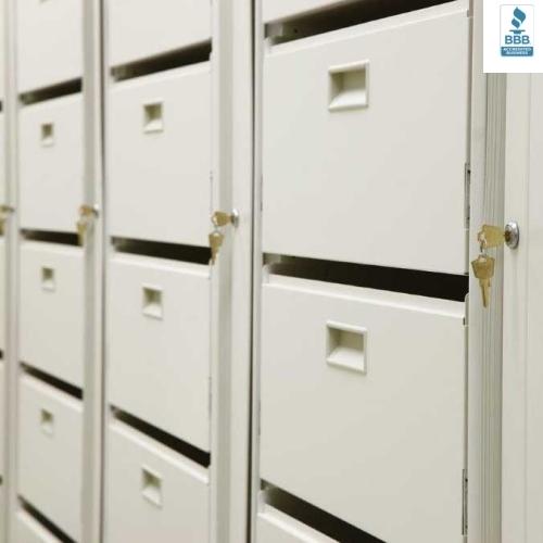 letter depth pivoting file cabinet unit 8 shelves locking privacy
