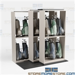 Lateral Rolling Golf Bag Racks Country Club Storage Room Shelving Municipal Courses