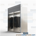 Datum clothing rack secure costume storage steel garment rack American made steel textile storage