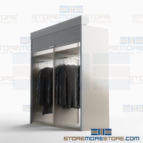 Alternative Views  sc 1 st  StoreMoreStore & Metal Clothing Storage Cabinets Storing Long Robes Costumes Dresses ...