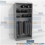 Uniform Hanging Rod Racks Storage Shelving Storing Hanging Costumes Hats Gear