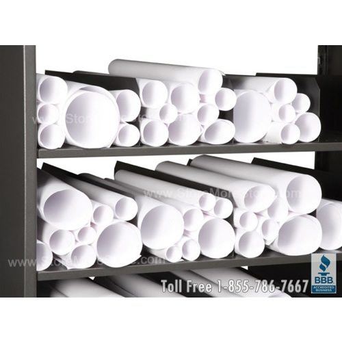 Rolled construction plan racks rolled blueprint drawing shelving free malvernweather Choice Image