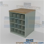 Engineering Blueprint Rack for Rolled Drafting Plans and Poster Storage Shelving