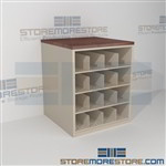 Rolled Blueprint Storage Rack Counter Cabinet Pigeon Hole Shelving Work Surface