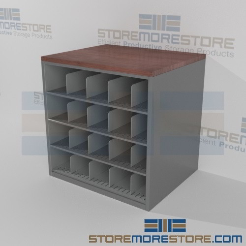 Counter high large document storage racks rolled plan for Architectural plan racks